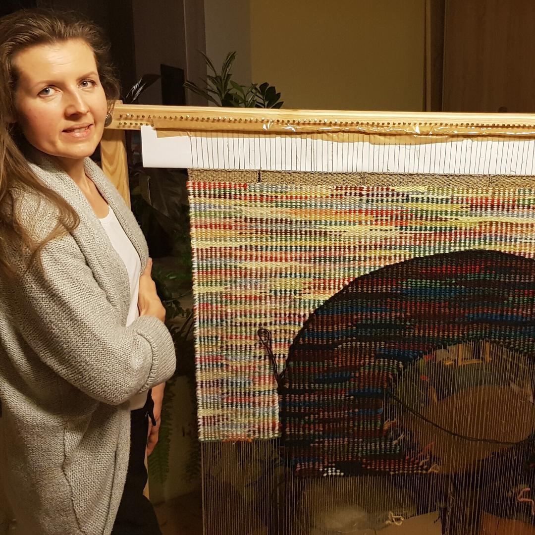 tkanina unikatowa, tkanina artystyczna, Karolina Nowaczyk