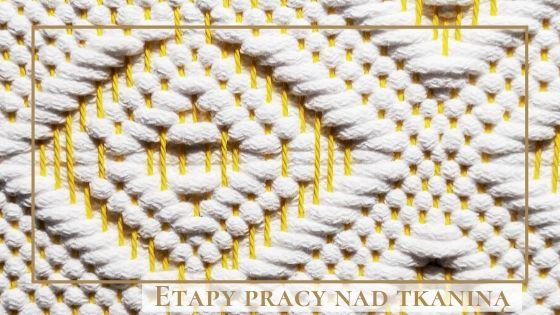tkanina geometryczna, tkanie na ramie, tkactwo